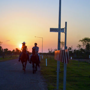 Sunset riding on Bridle Road