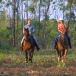 Marlow Country couple riding in the bush
