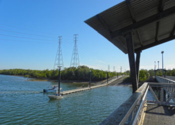Elizabeth River boat ramp and fishing platform